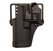 Blackhawk SERPA CQC Concealment Holster with Belt and Paddle Attachment, Left Hand, Matte Black
