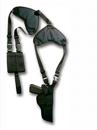 Bulldog Cases WSHD-2 Deluxe Shoulder Horizontal Holster Size Black Ambidextrous
