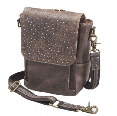 Gun Tote'N Mamas GTM/CZY-80 Distressed Leather Cross Body Satchel