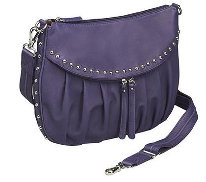 Gun Tote'n Mamas Uptown Tote Concealed Carry Weapon Purse Purple