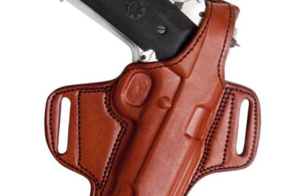 Tagua Gunleather Thumb Break Belt Holster, Brown, Left Hand