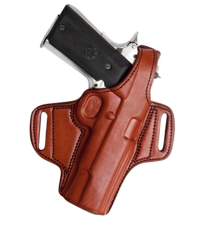 tagua gunleather thumb belt holster brown right