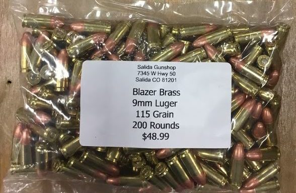 9mm Luger 115 Grain 200 Rounds