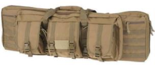 Drago Gear 42″ Double Gun Case Padded Backpack Straps Large Storage Pouches 600D Polyester Tan