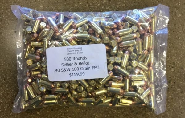 .40 S&W 180 gr FMJ 500 rds