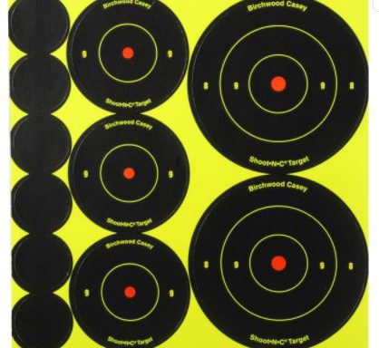 Birchwood Casey Shoot-N-C Targets 72-1″, 36-2″ and 24-3″ Round Assortment Pack of 10