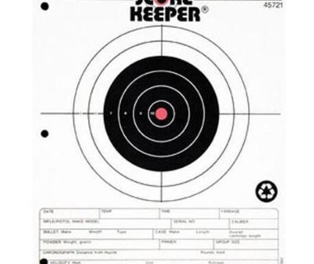 Champion Score Keeper 50 Yard Small Bore Notebook Targets 8.5″ x 11″ Paper Orange Bull