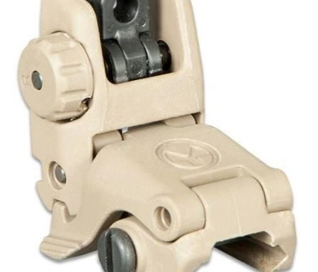 Magpul MBUS Gen 2 Flip-Up Rear Sight AR-15 Picatinny Compatible Injection Molded Polymer Flat Dark Earth
