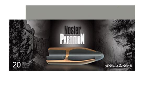 Sellier & Bellot Rifle Hunting 308 Win/7 62 NATO 180 GR Nosler Partition 20  Box/ 10 Case - Salida Gun Shop